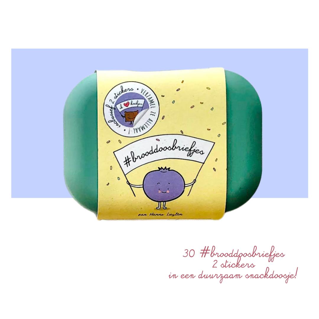 #brooddoosbriefjes - reeks 2 - met groen snackdoosje